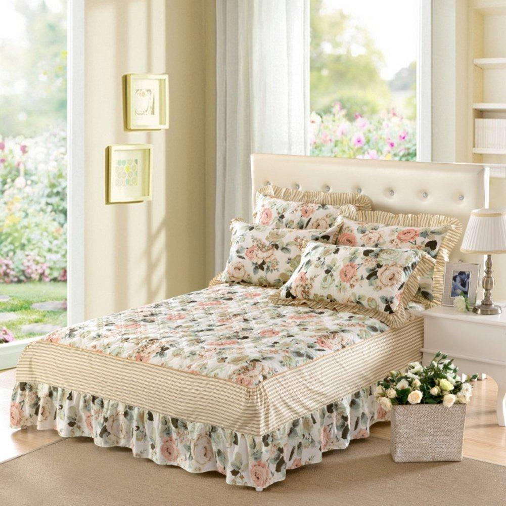 ZYBCQL Bettrock Sheet Plus Baumwolle tagesdecke 100/% Baumwolle floral verdicken sie-B 120x200cm 47x79inch