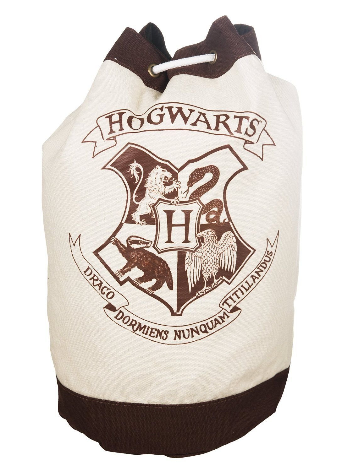 Hogwarts School Crest Canvas Drawstring Duffle Bag by Harry Potter (Image #1)