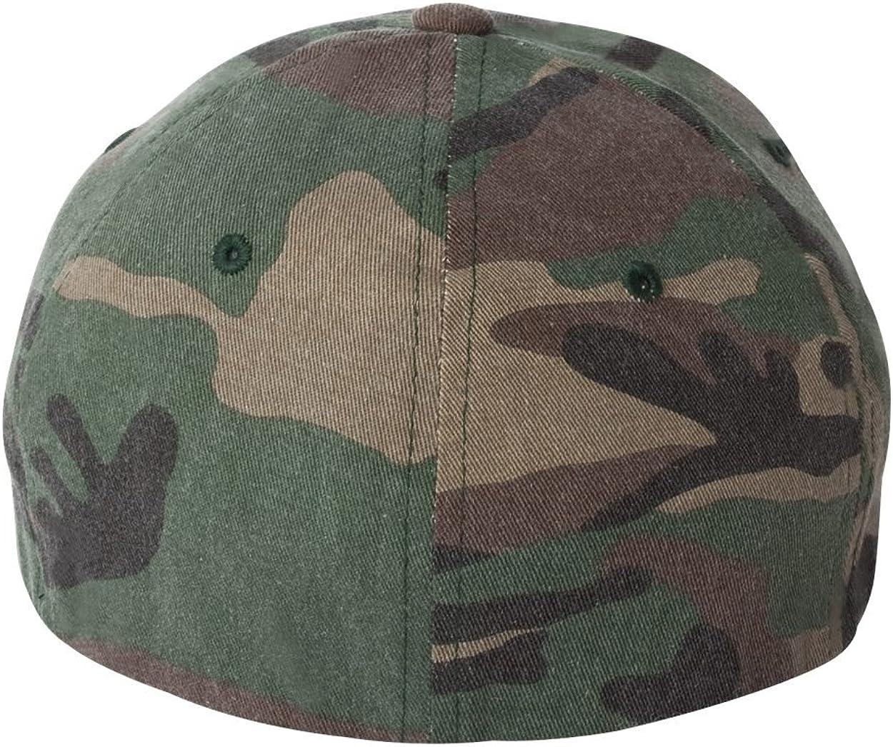 Yupoong 6977CA Flexfit Cotton Camouflage Cap S//M Green Camo