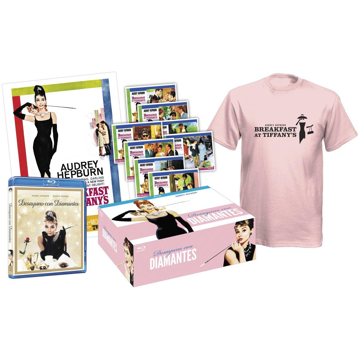 Breakfast at Tiffanys Desayuno con diamantes - Pack Collector Blu-Ray + Tshirt + 8 Post cards + Poster Blu-ray European region B/2: Amazon.es: Cine y Series TV
