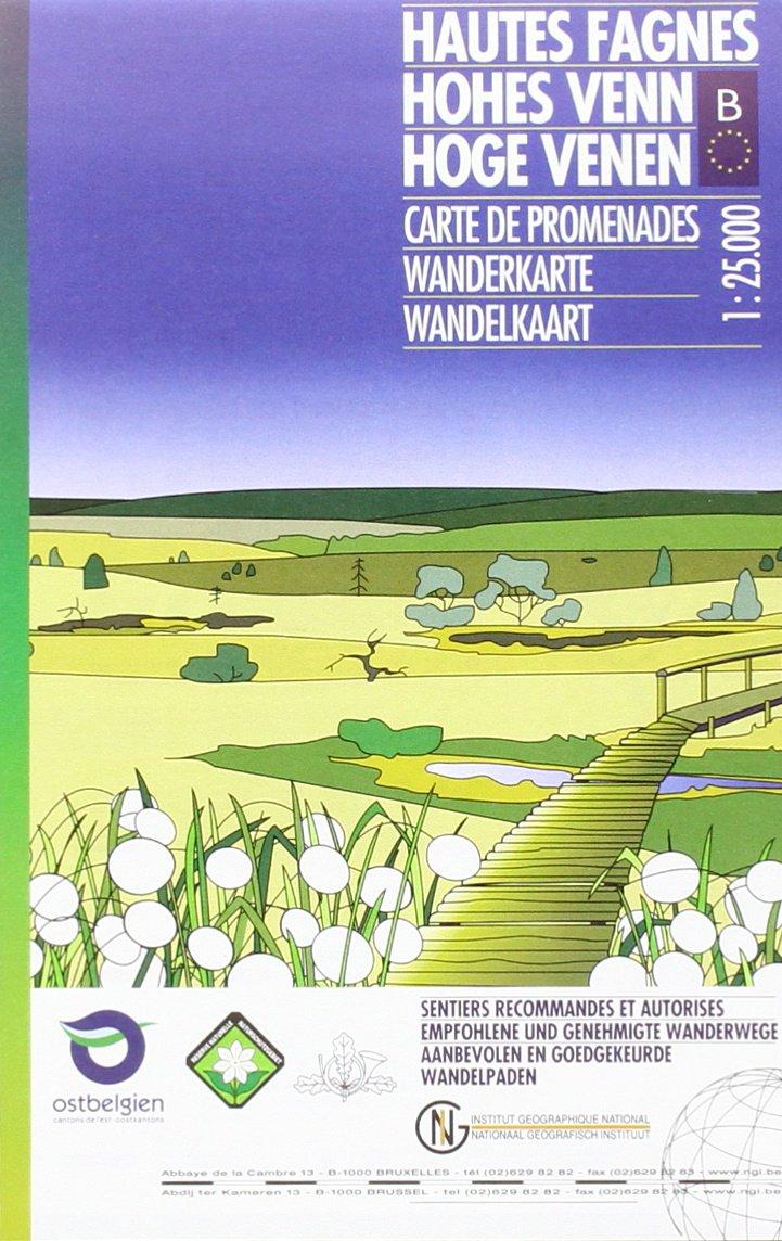 Hohes Venn / Hoge Venen 1 : 25 000 (Mehrsprachig) Landkarte – 1. Mai 2015 Ngi 9462350965 Karten / Stadtpläne / Europa Belgien