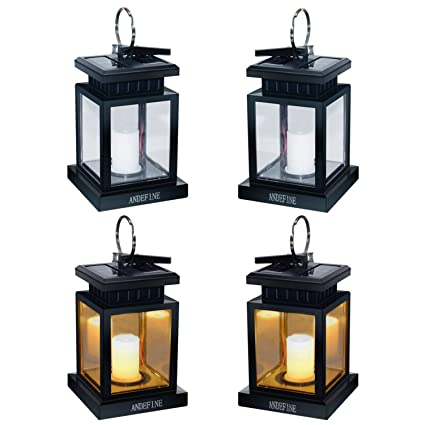 Exceptionnel Hanging Solar Lanterns   ANDEFINE Outdoor LED Umbrella Lights Waterproof  Candle Lamps Hang On Patio Umbrella