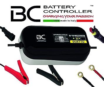 BC DUETTO - 12V 1,5A - Cargador y Mantenedor de Carga Automático para Baterías de Plomo-Ácido y de Litio/LiFePO4