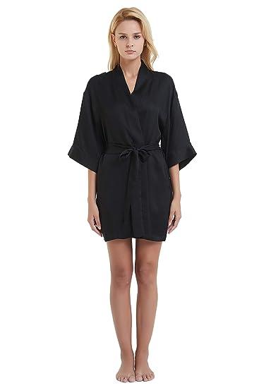 MI Chiamo Pajamas Women s Silk Nightgown Breathable Satin Spaghetti  Sleepwear ... 034502a91