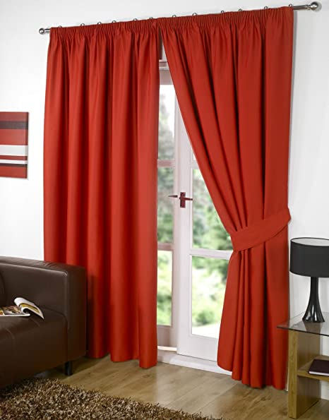 Home & Garden Red Satin Curtains 66x72 Cool In Summer And Warm In Winter Window Treatments & Hardware