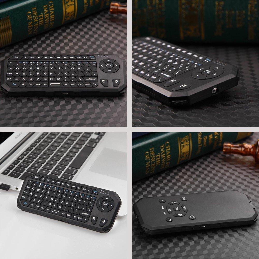 Fletion Multi 6 Axis inercia Sensor Mini portátil empuñadura forma 2,4 G inalámbrico por infrarrojos Keyboard y Air Mouse y mando a distancia para PC/Red ...