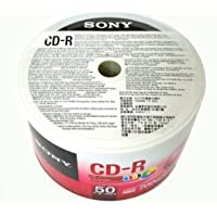 Sony 50 Pack Blank CD-R CDR White Inkjet Hub Printable 48 X 700MB 80min Record Media Disc