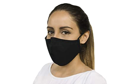 Amazon Com Cotton Face Masks With Metal Adjuster Adult One Size Fits All Black 100 Mask Pack Beauty