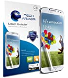 Galaxy S4 Screen Protector, Tech Armor High Definition HD-Clear Samsung Galaxy S4 Screen Protector [3-Pack]