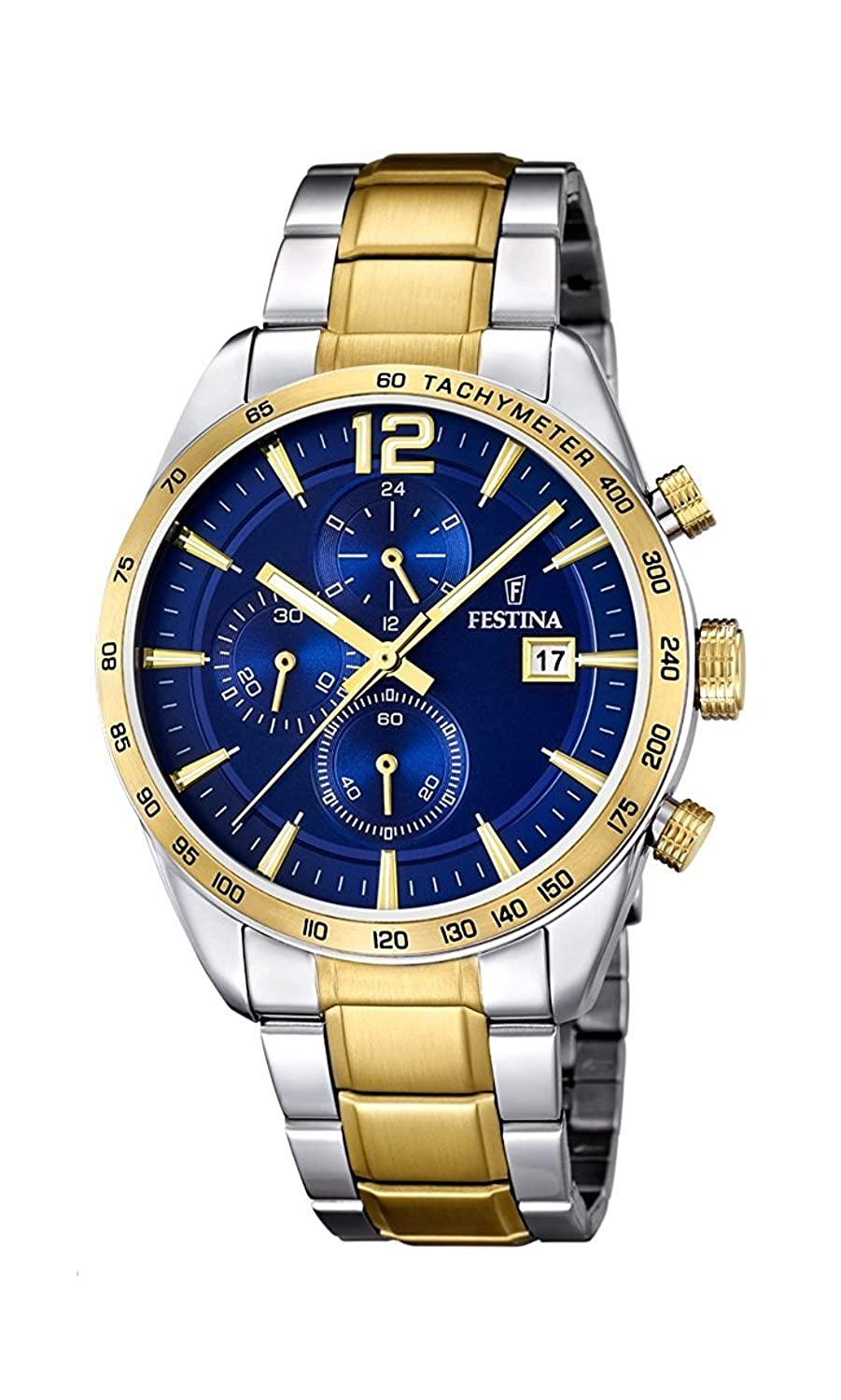 Amazon.com: FESTINA watch mens chronograph breath F16761 / 2 Mens [regular imported goods]: Watches
