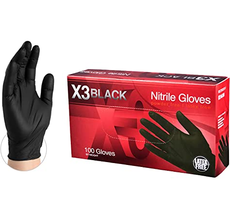 Gloveplus Industrial Black Nitrile Gloves 5 Mil Latex Free Powder Free Textured Disposable Small Gpnb42100bx Box Of 100 Buy Online At Best Price In Uae Amazon Ae
