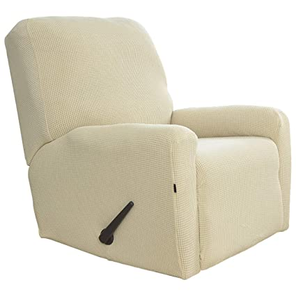 Easy Going Stretch Recliner Slipcovers, Sofa Covers, 4 Pieces Furniture  Protector Elastic Bottom