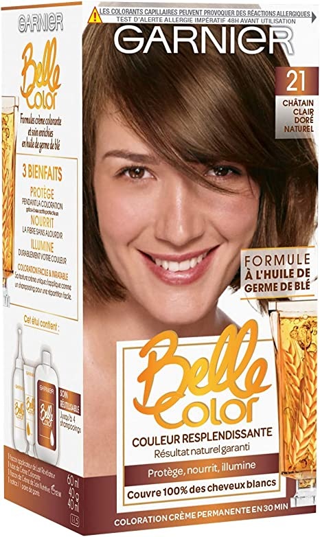 Garnier - Belle color - El color permanente de la castaña - 21 natural de rubio claro dorado