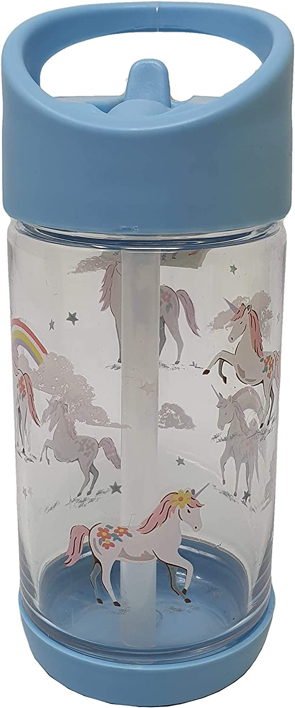 Cath Kidston - Botella de Agua para Beber, diseño de Unicornios y Arco Iris, Color Azul