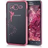 kwmobile Elegante y ligera funda Crystal Case Diseño hada para Samsung Galaxy J5 (2015) en rosa fucsia transparente