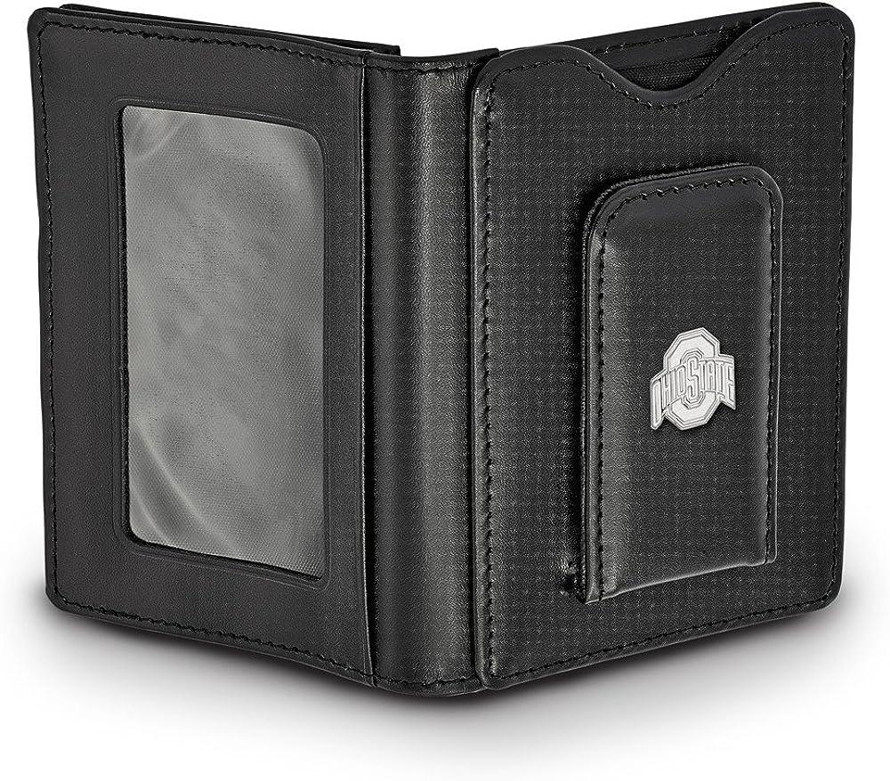 53mm x 24mm Solid 925 Sterling Silver Official University of Notre Dame Slim Business Credit Card Holder Money Clip