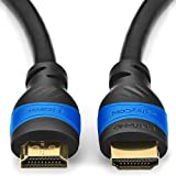 deleyCON 0,5m câble HDMI - HDMI 2.0 / 1.4 compatible High Speed avec Ethernet (standards les plus récents) ARC 3D Ultra HD (1080p/2160p)