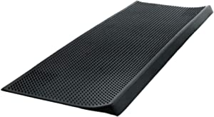 Imports Decor Inc Black Rectangular Skid Free Rubber Stair Pin Mat 30