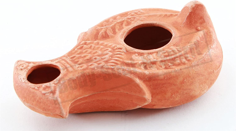 Ancient Israel Judaica Antique Biblical Replica AncientOil LAMP Hanukkah Gift