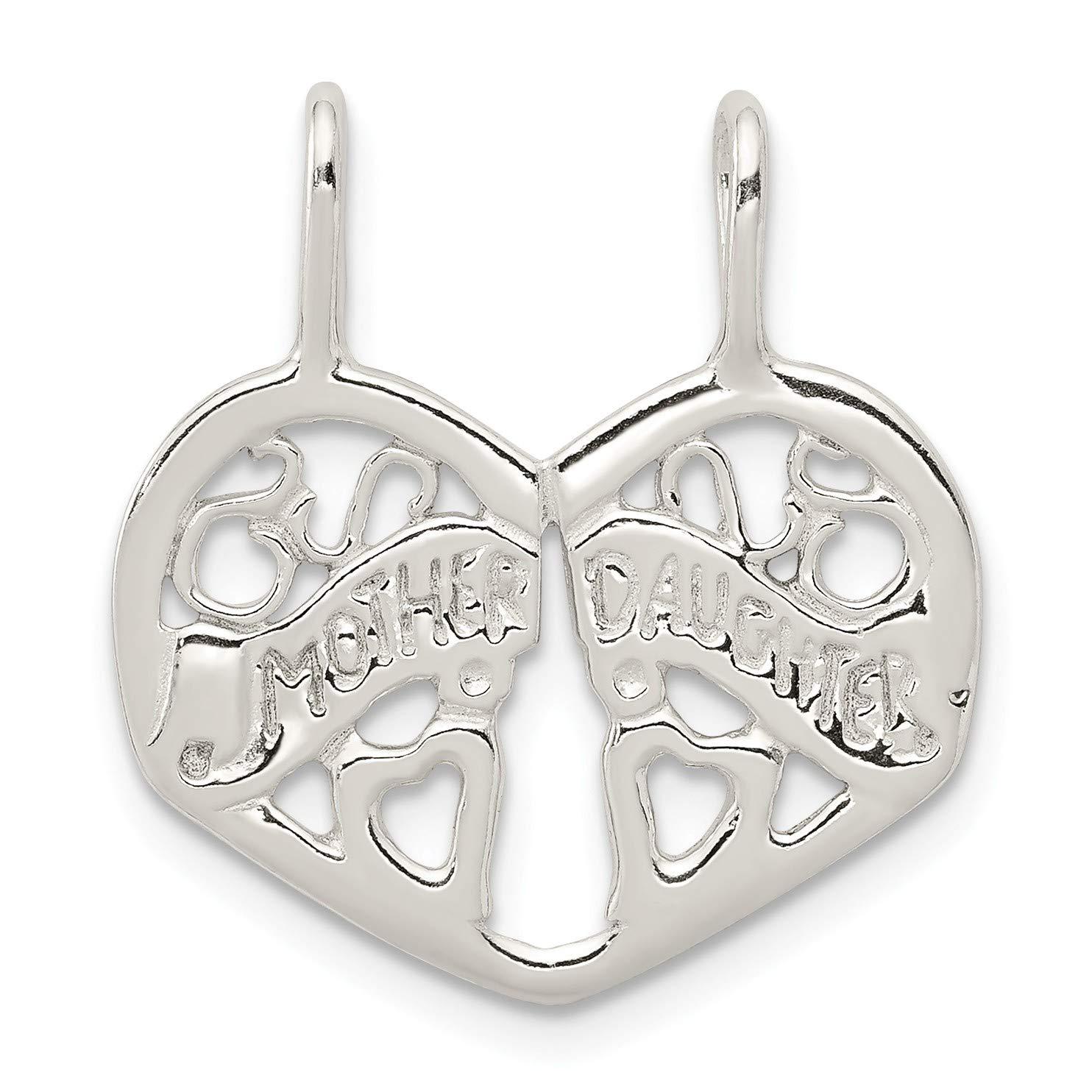 Bonyak Jewelry Sterling Silver Mother//Daughter Break Apart Charm