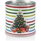 Weihnachtsbaum in der Dose - Baum, Geschenke und bunte Streifen