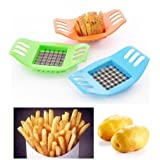 2x French Fry Potato Chip Cut Cutter Fruit Slicer Chopper Chipper Blade Stainless Steel Easy To Use Brand New