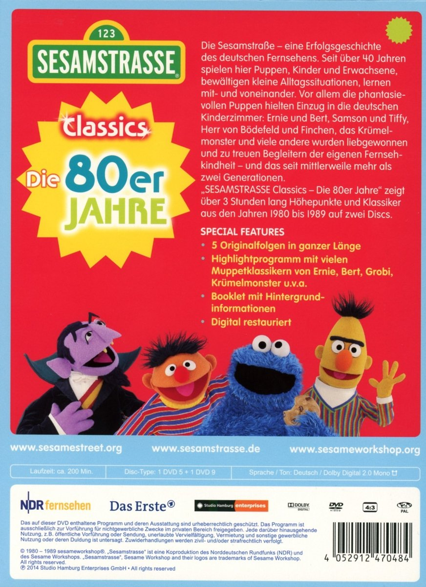 Sesamstraße Classics: Die 80er Jahre DVD Box DVD  