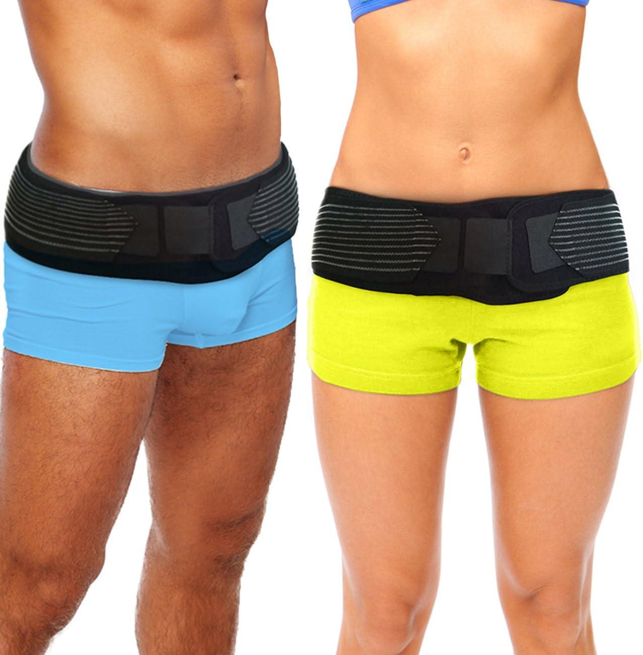 SI Belt Hip Brace - Sacroiliac SI Joint & Sciatica Nerve Pain Relief. Lower Back Brace for Back Support. Pelvis Hip Belt for Sciatic Nerve Pain Relief, Lower Back Brace for Men Women's Hip Pain