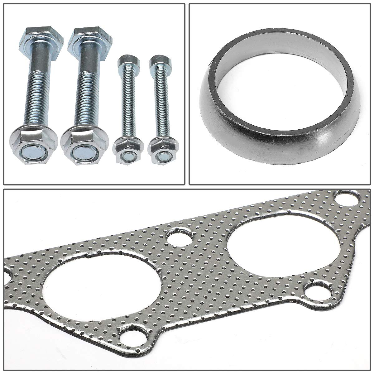 DNA Motoring GKTSET-HC88-B18-41 Aluminum Exhaust Manifold Header Gasket Set Replacement