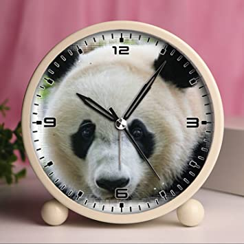 Reloj despertador, relojes retro portátil con luz personalizado diseños - lindo y divertido oso Panda 57. Cute Panda: Amazon.es: Hogar