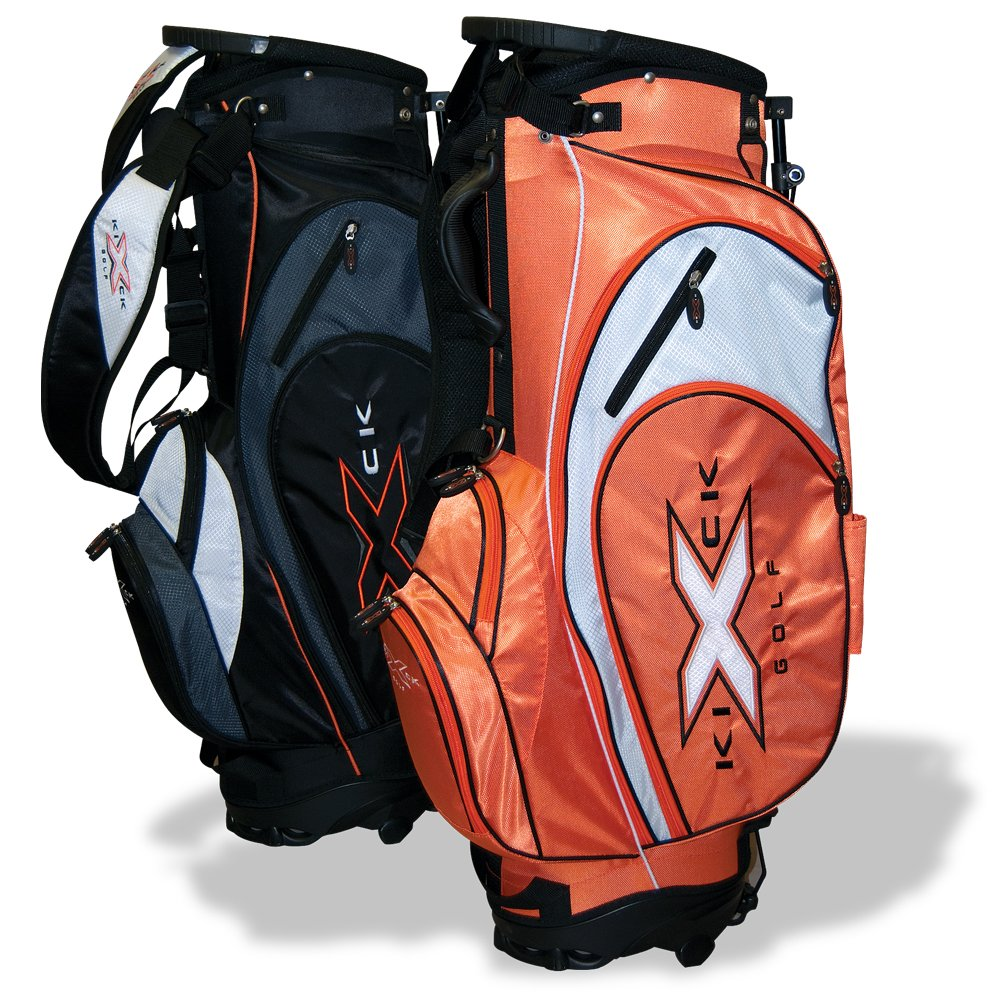 KICK-X GOLF Xlite Golf Stand Bag, Black