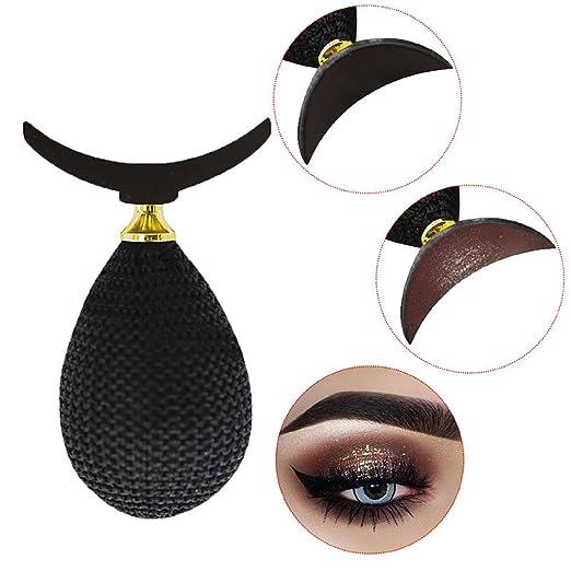 Lazy Eyeshadow Stamp Crease Makeup Draw Tool make precise eyeshadow in seconds,Black best eyeshadow stamp