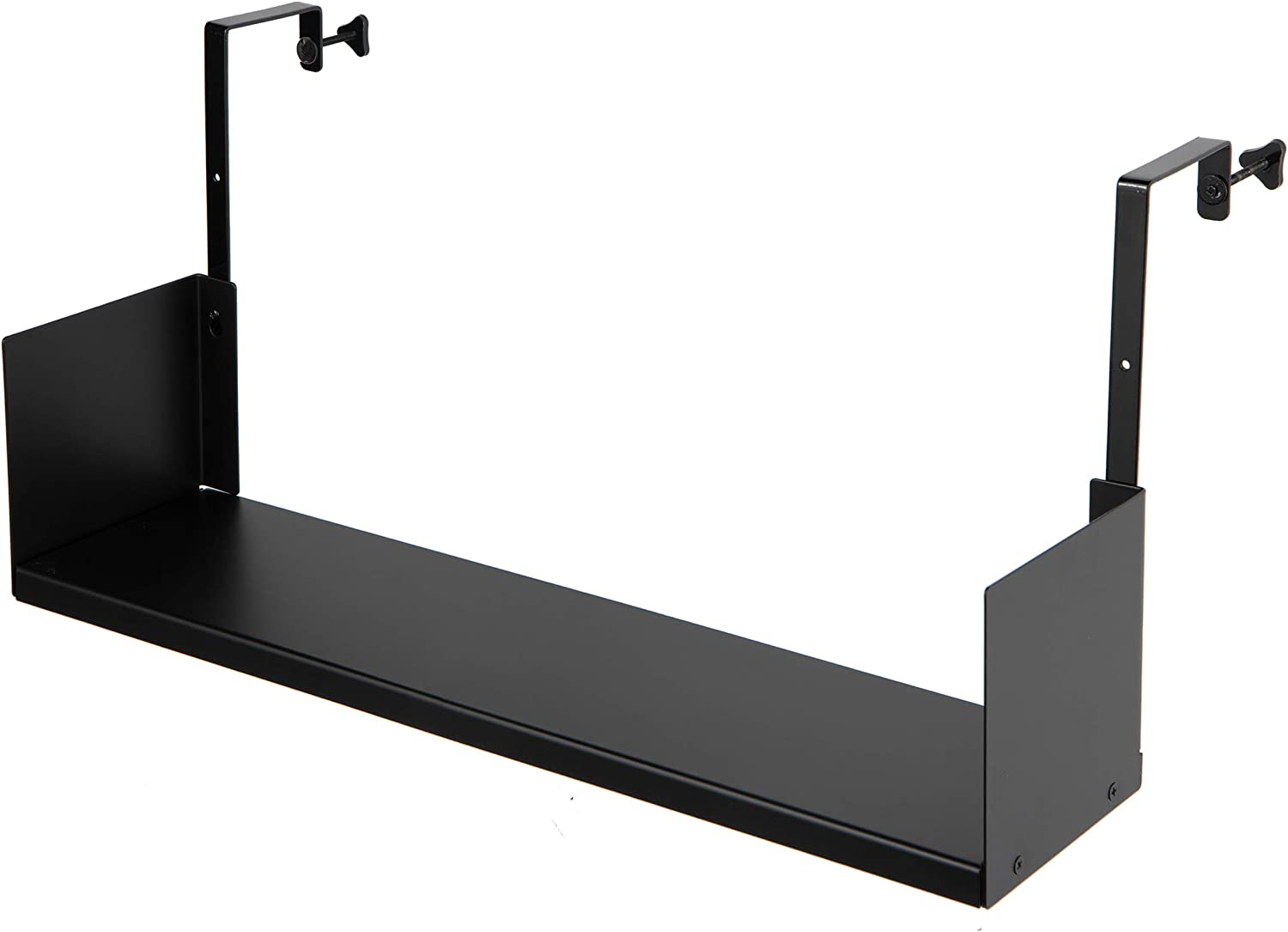 Wallniture Buro Cubicle Hanger Bookshelf and Home Office Desk Organizer Tray, Black Storage Organizer 27""