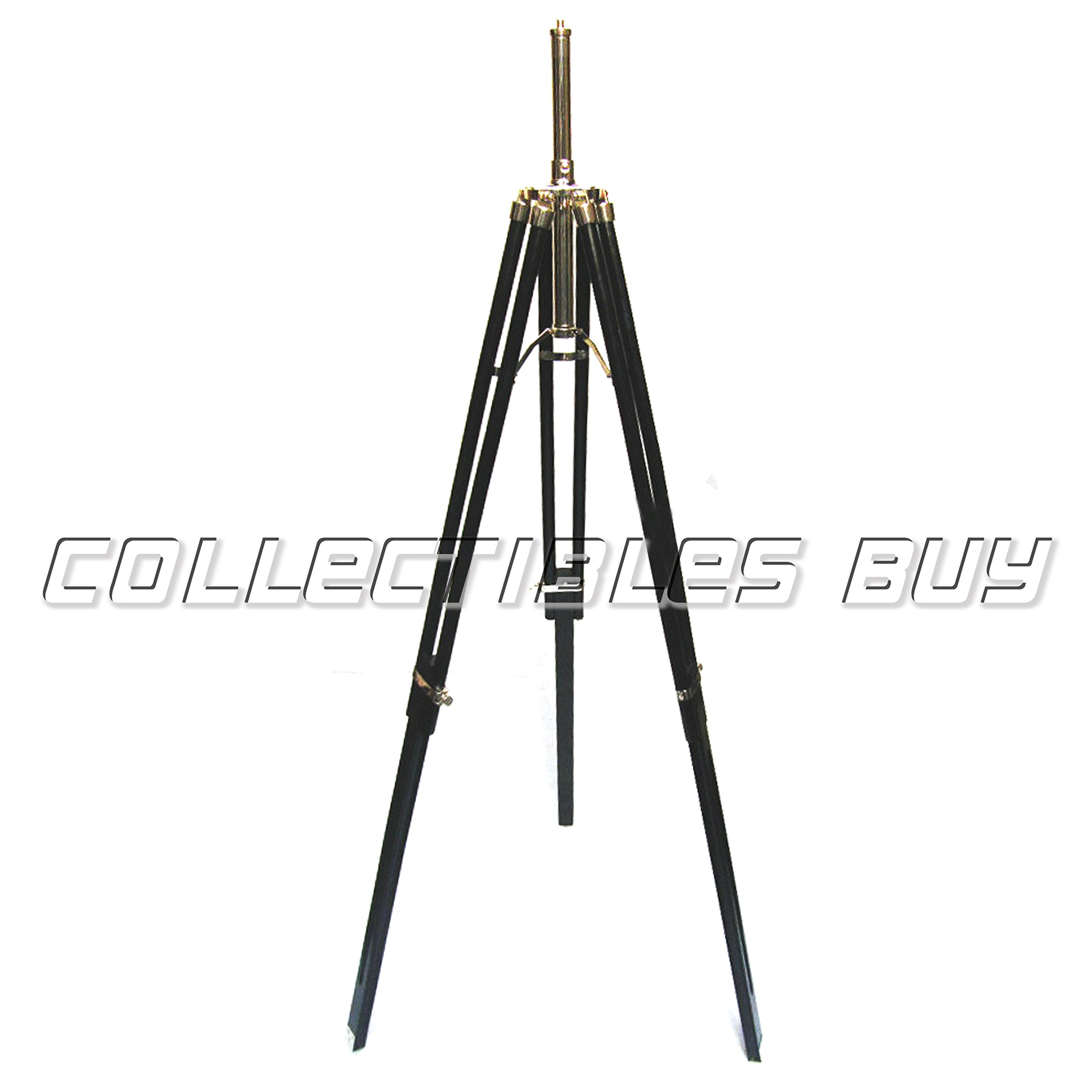 Classy Floor Lamp Stand Base Wooden Tripod Home Furnishing Black