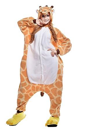 021c98180951 Amazon.com  NEWCOSPLAY Adult Unisex Giraffe Onesie Pajamas Costume  Clothing