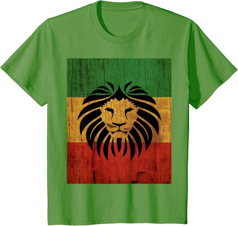 ryudryu Rasta Reggae Lion Flag Jamaica for Rastafari Lover T ...