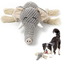 KOL Plush Dog Toy, Squeaky Interactive Puppy Dog Toys with Crinkle Paper, Durable Chew Toys for Small and Medium Dogs…