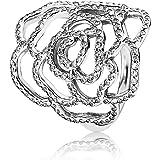Pandora Damen-Ring Wildrose 925 Silber Zirkonia weiß - 190950CZ