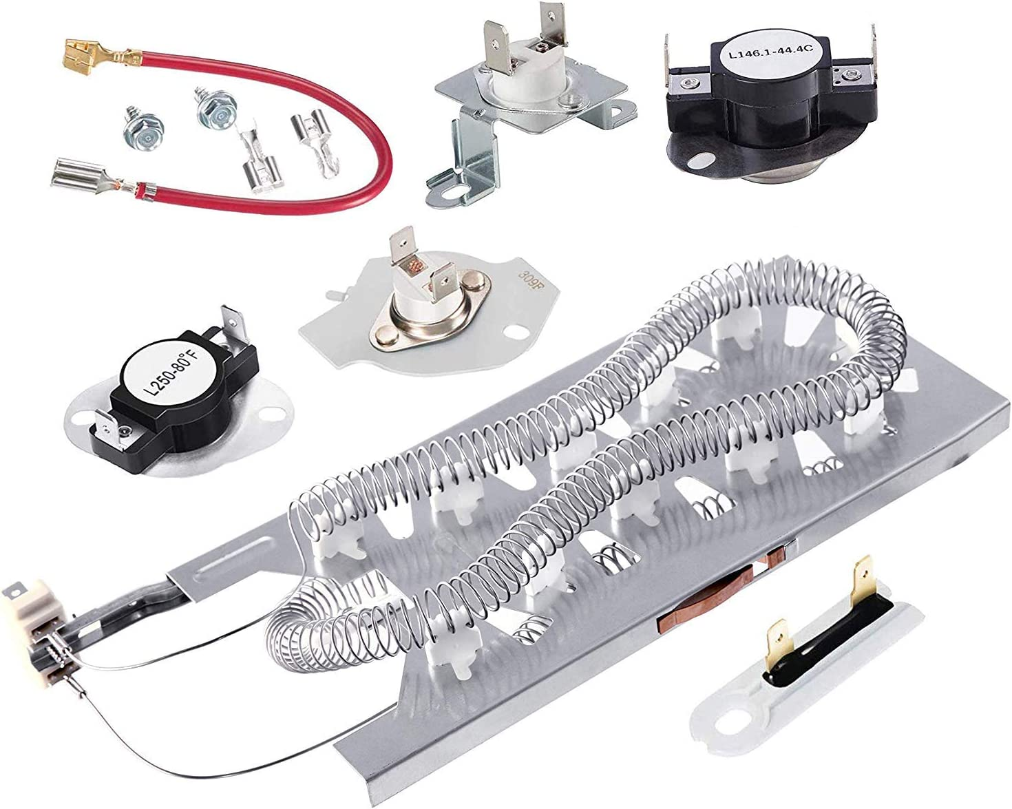 3387747 279973 Dryer Heating Element Thermal Cut Off Fuse Kit New