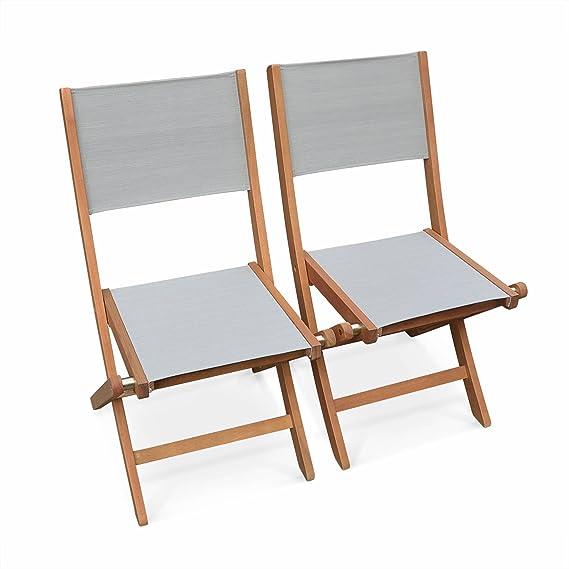 Alices Garden - Lote de 2 sillas Almeria plegables para ...
