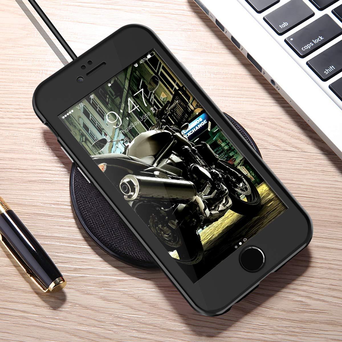 Hardcase 2 in 1 Handyh/ülle 360 Magnetisch Hard Full Body Macaron Schutzh/ülle Bumper Schwarz CE-Link iPhone 6 Plus H/ülle iPhone 6s Plus H/ülle with iPhone 6 Plus//iPhone 6s Plus Panzerglas