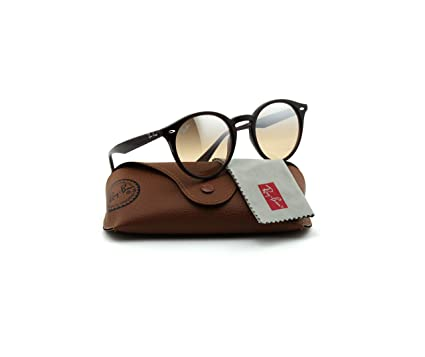 7b6322a3de Amazon.com  Ray-Ban RB2180 Unisex Round Sunglasses (Brown Frame Brown  Mirror Gradient Lens 62313D
