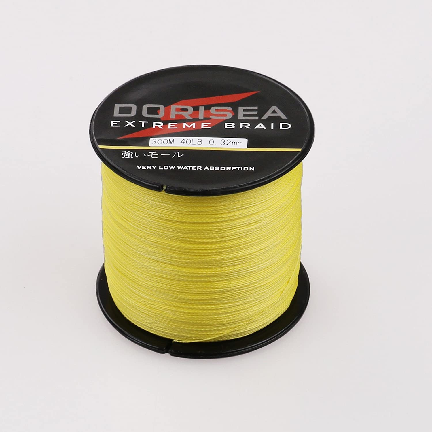 Dorisea Extreme Braid 100 Pe Yellow Braided Fishing Line 109Yards-2187Yards 6-550Lb Test Fishing Wire Fishing String Incredible Superline Zero Stretch