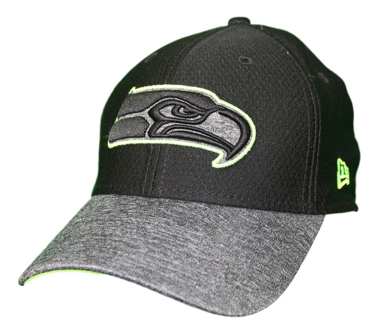 de700b1a Amazon.com : New Era Seattle Seahawks NFL 39THIRTY Popped Shadow Flex Fit  Hat - Black : Clothing