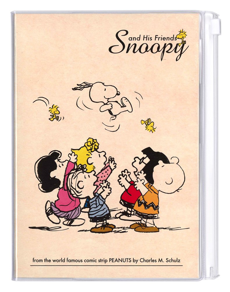 Delfino 2017 Monthly notebook Snoopy Snoopy our words Kraft