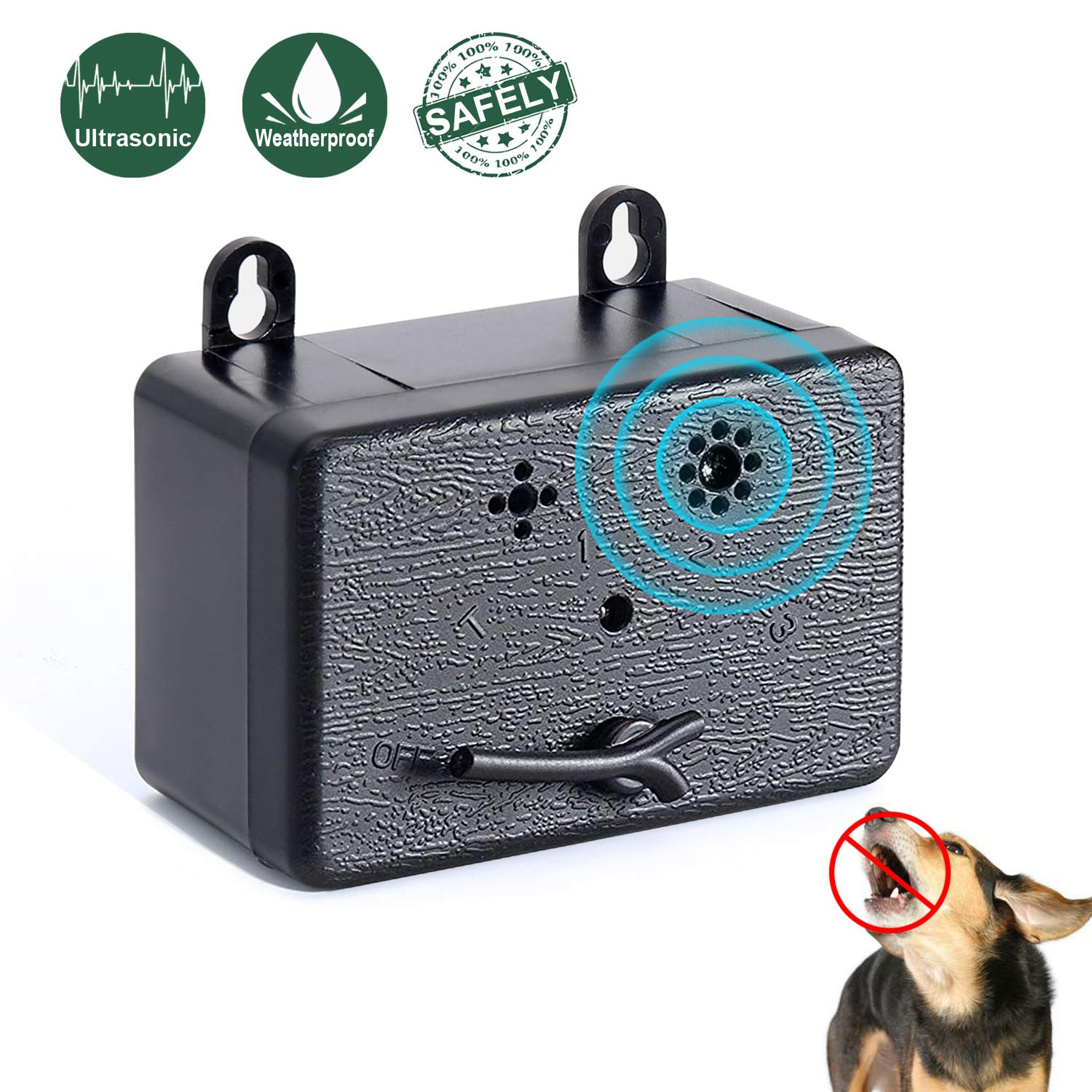 PetUlove Ultrasonic Dog Anti Barking Device,Bark Control Device,Stop Barking,Outdoor Sonic Bark Deterrents No Bark Silencer by PetUlove