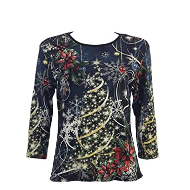 Jess Jane Christmas Joy Cotton Top In Black 14 1077 At Amazon