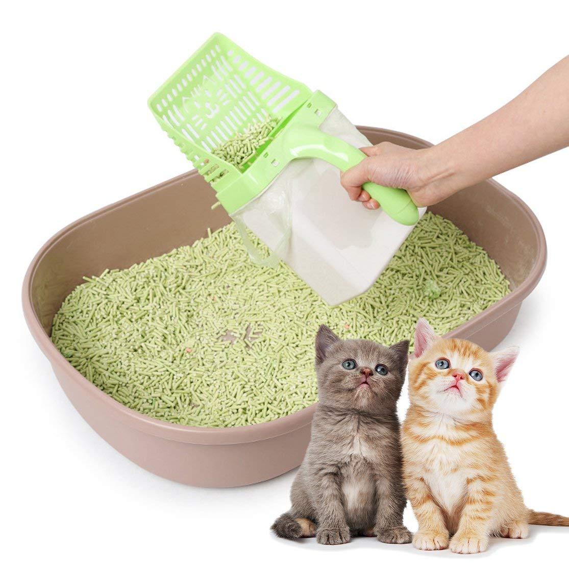 Accessori per Animali Domestici LouiseEvel215 Set di Accessori per la Pulizia della lettiera per Gatti Portatili Semi-Chiusi
