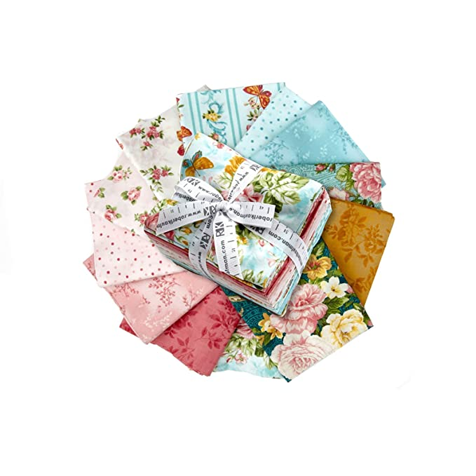 Robert Kaufman Kaufman Lady Elizabeth Fat Quarter Bundle, Spring