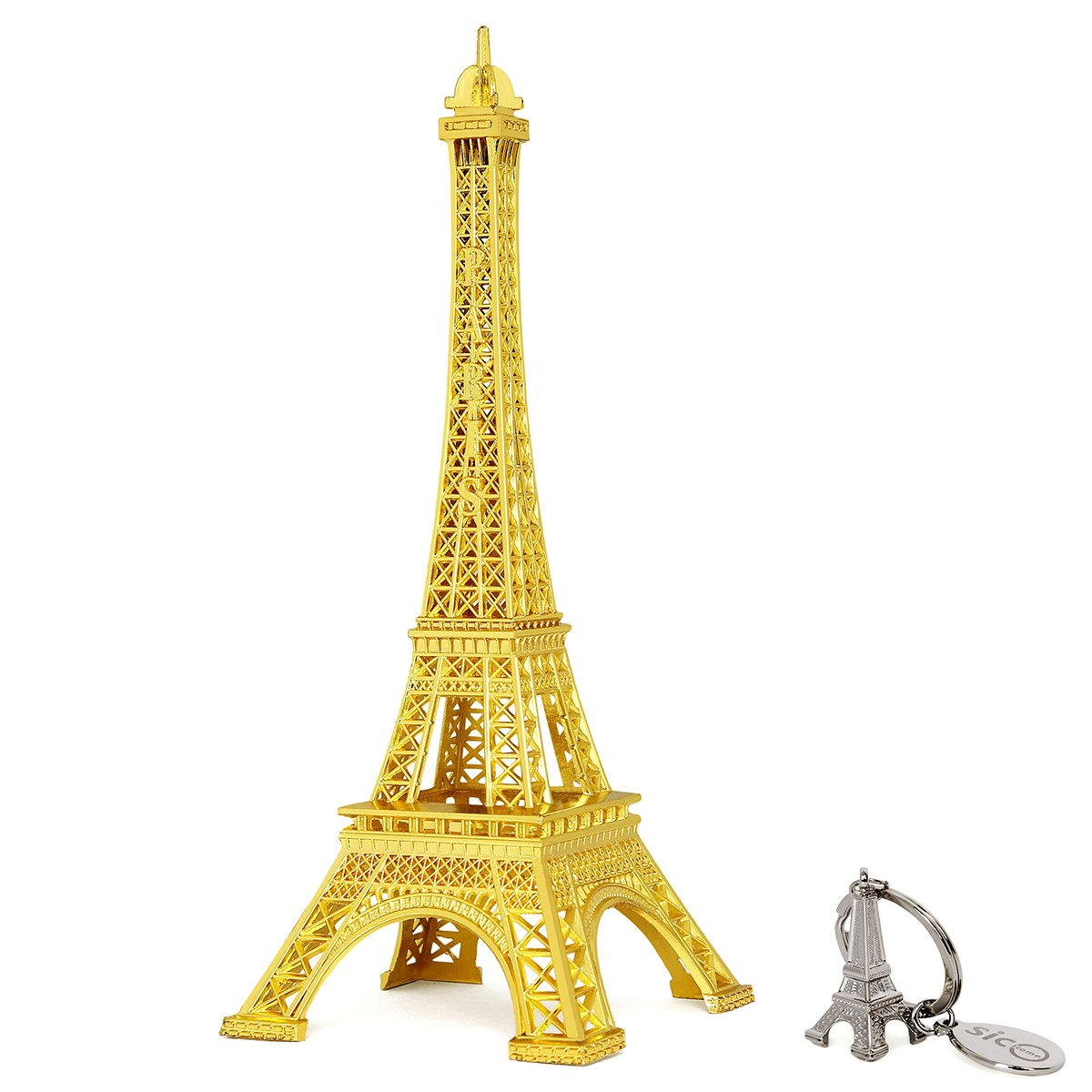 Amazon.com: SiCoHome Eiffel Tower Decor,7.0inch,Gold,for Gifts ...